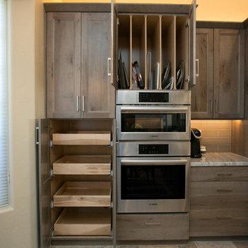 Calming Neutral Gray Kitchen