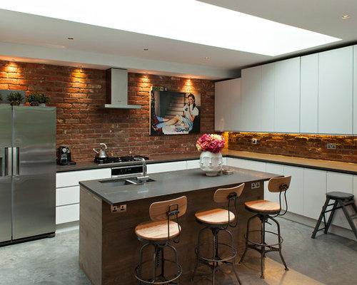 Brick Wall Kitchen | Houzz