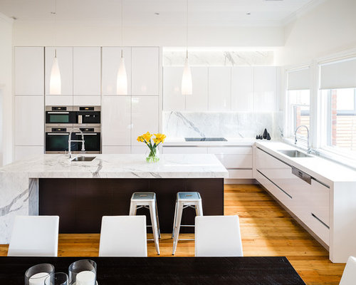 High Gloss White Kitchen Home Design Ideas, Pictures, Remodel and Decor