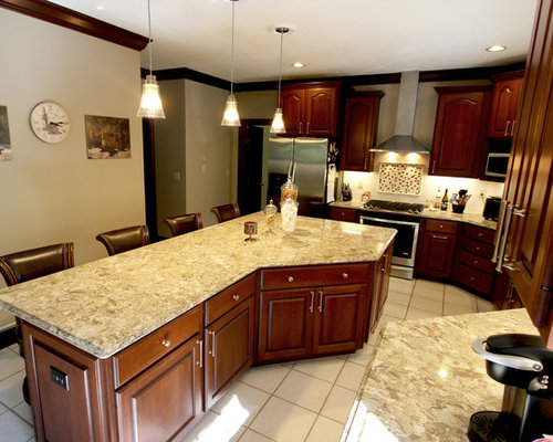 Cambria Nevern Countertops with Galley Workstation ~ Medina, OH
