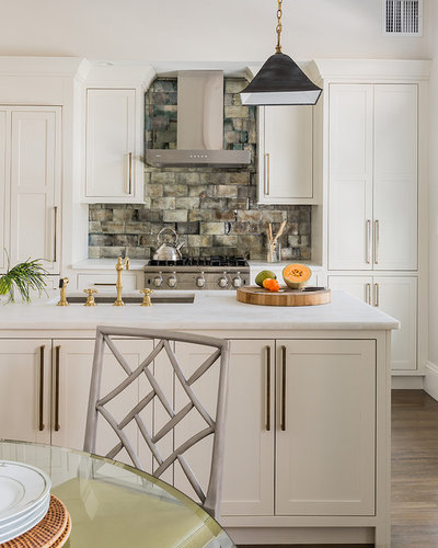 Transitional Kitchens With White Cabinets: Kitchen Of The Week: Chinoiserie Chic In New England
