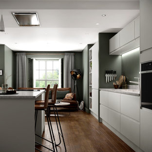 Camden Dove Grey Moss Green Handleless Kitchen