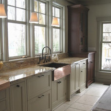 Traditional Kitchen by The Kennebec Company