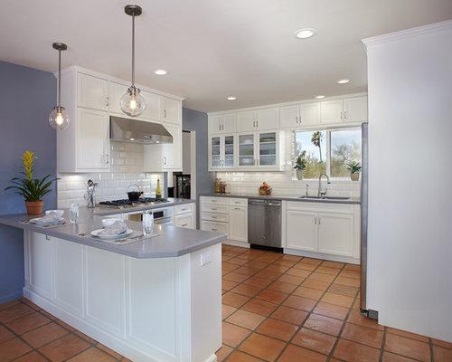 terracotta kitchen floor transitional - photo #31