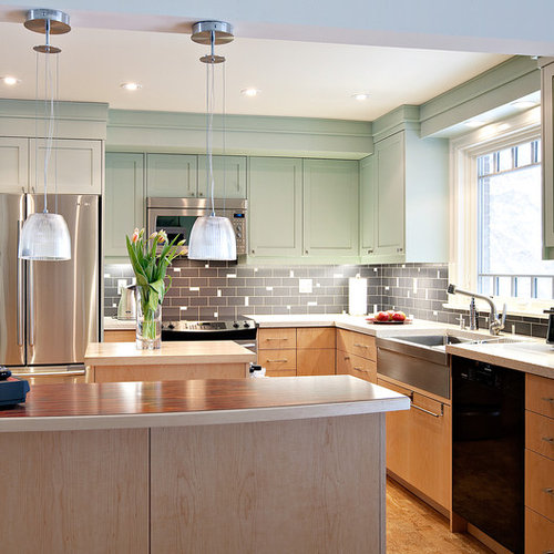kitchen gray cabinets mint green houzz 1781