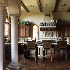 mediterranean kitchen by Candelaria Design Associates