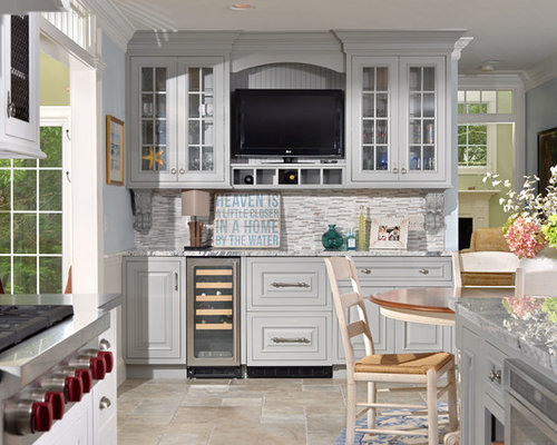 Inspiration For A Beach Style Eat In Kitchen Remodel In New York With  Raised . Save Photo. Candlelight Cabinetry, Inc · 7 Reviews