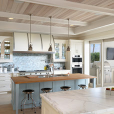 Beach Style Kitchen by Candlelight Cabinetry, Inc
