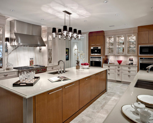Mixing Modern And Traditional Furniture Kitchen Design