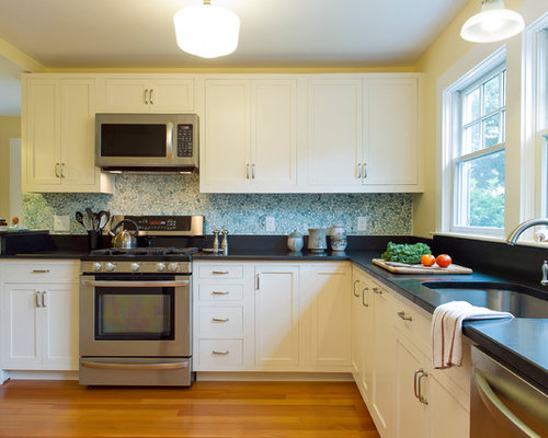 Inspiration For A Beach Style Kitchen Remodel In Boston With Stainless Steel Appliances