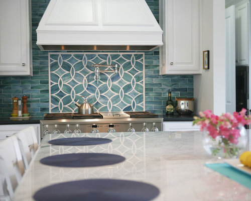 interior design kitchens blue backsplash houzz 12639