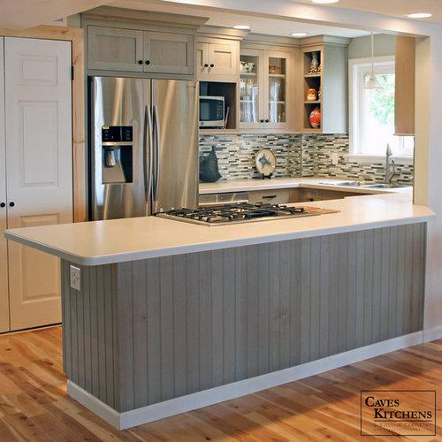 cuisine bord de mer avec un plan de travail en surface solide photos et id es d co de cuisines. Black Bedroom Furniture Sets. Home Design Ideas
