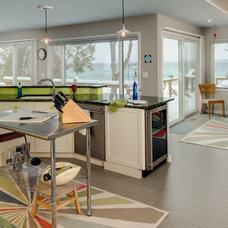 Eclectic Kitchen by Bay Cabinetry & Design Studio