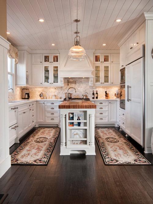 cuisine avec une cr dence en travertin photos et id es d co de cuisines. Black Bedroom Furniture Sets. Home Design Ideas
