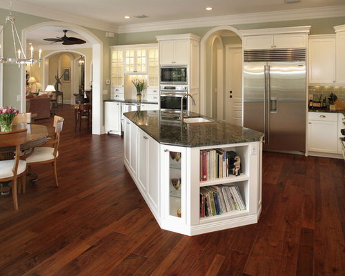 Example Of A Classic Kitchen Design In Tampa With Stainless Steel Appliances