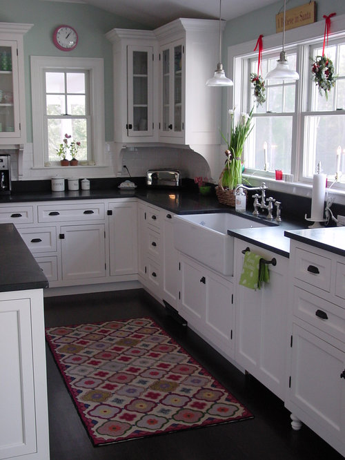Black Hardware White Cabinets Home Design Ideas Pictures