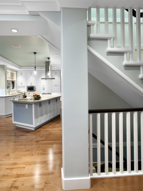 open stair to basement home design ideas pictures remodel and decor. Black Bedroom Furniture Sets. Home Design Ideas
