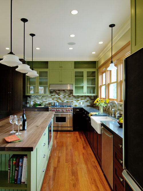 green kitchen cabinets home design ideas pictures