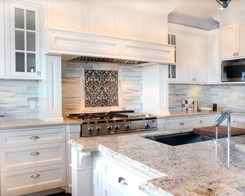 Kitchen Backsplash Accents accent tile above range | houzz