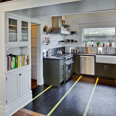Transitional Kitchen by Gaspar's Construction