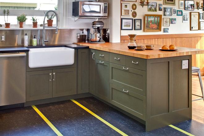 Transitional Kitchen by Gaspar's Construction