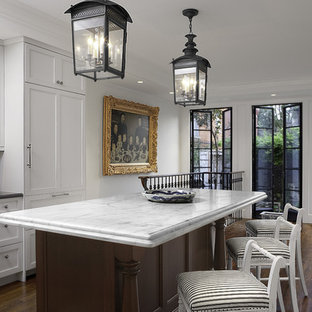 Traditional Kitchen Designs Elegant Photo In Dc Metro With Marble Countertops