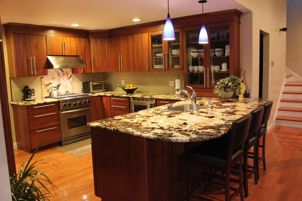 Contemporary Kitchen by Capstone Marble and Granite / Boston