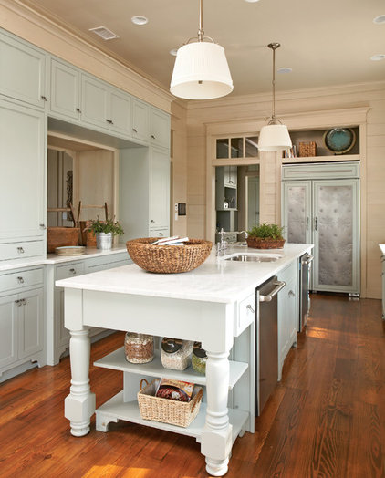Beach Style Kitchen by Our Town Plans