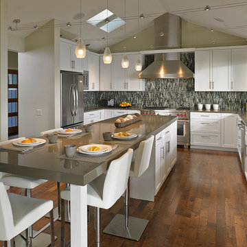 Captivating Kitchen With Open Cabinetry