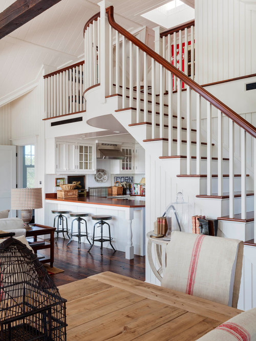 Exposed stairs ideas pictures remodel and decor for Kitchen designs under stairs