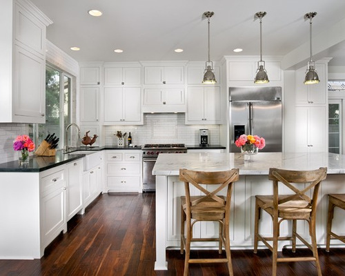 White Kitchen Black Countertop white kitchen black countertops - newcountertop