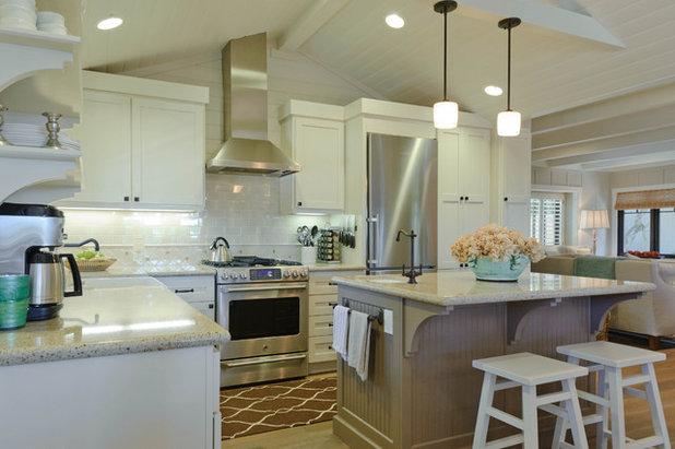 Beach Style Kitchen by Regan Baker Design Inc.