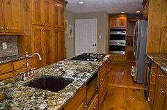 Knotty Pine Kitchen,What Countertop and Backsplash?