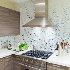 Transitional Kitchen by Caroline Beaupere Design