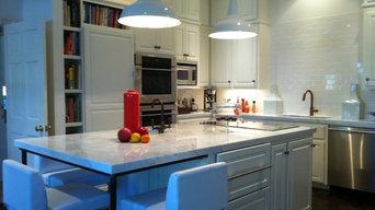 Carrara marble kitchen