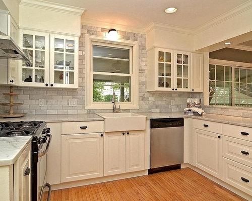 carrara marble kitchen | houzz
