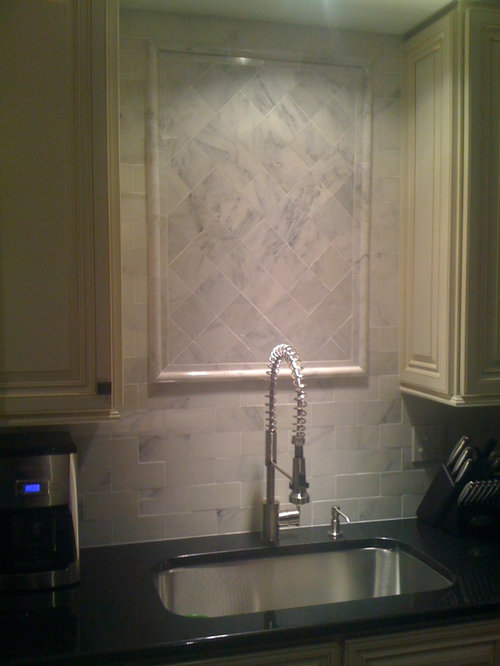 Carrera Marble Backsplash Houzz