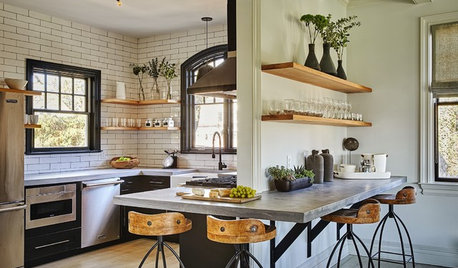 Houzz Tour: Vintage Industrial Touches Update a Carriage House
