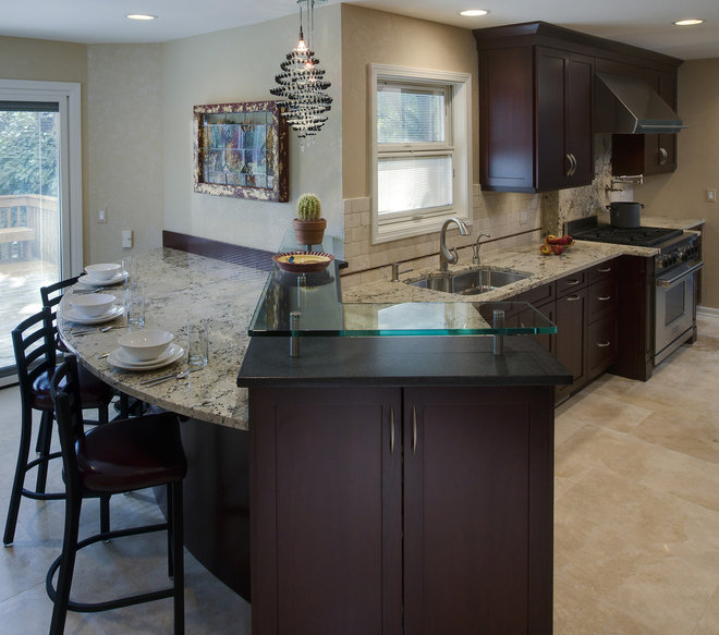 Kitchen Islands W/tables Attached
