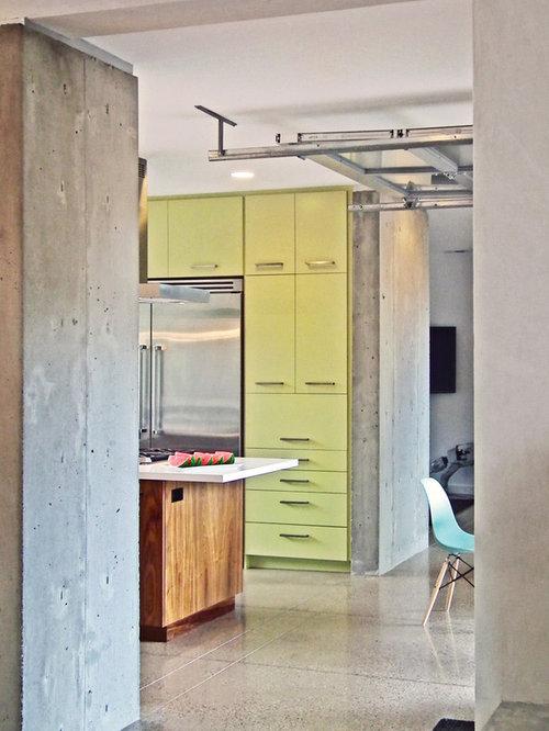 Ideas para cocinas fotos de cocinas modernas con puertas de armario verdes - Puertas de cocinas modernas ...