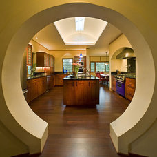 Eclectic Kitchen by Archaeo Architects