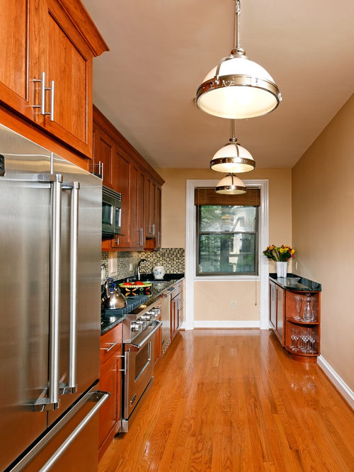 One Sided Kitchen Houzz