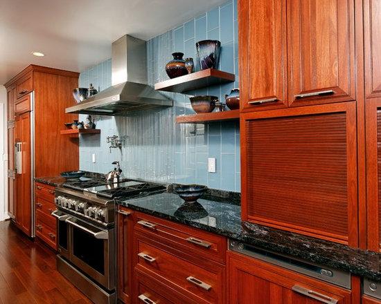 Kitchen Backsplash Cherry Cabinets tile backsplash and cherry cabinet | houzz