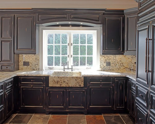 Black Distressed Cabinets Home Design Ideas Pictures