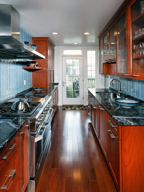 remodeling a galley kitchen thermatru door houzz 4696