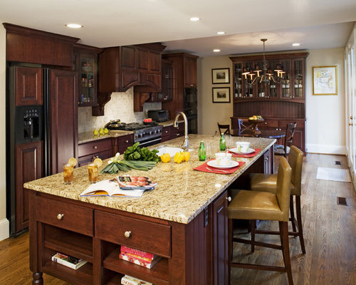 Inspiration For A Timeless Galley Kitchen Remodel In DC Metro With Granite  Countertops, An Undermount
