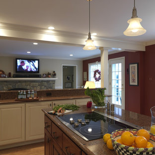 Traditional kitchen remodeling - Kitchen - traditional kitchen idea in DC Metro with raised-panel cabinets and white cabinets