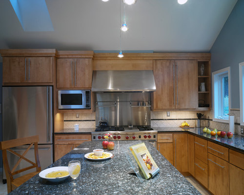 blue pearl granite kitchen | houzz