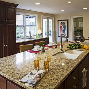 Example Of A Clic Kitchen Design In Dc Metro With Double Bowl Sink