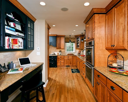 oak kitchen cabinets with granite countertops. Kitchen - Traditional Idea In DC Metro With Recessed-panel Cabinets, Granite Countertops Oak Cabinets I